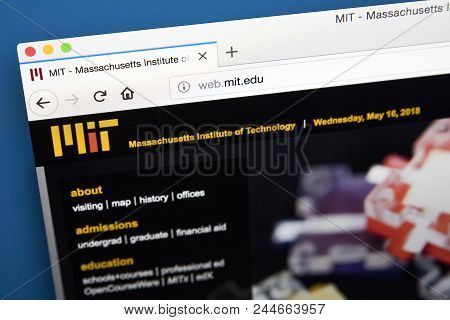 London, Uk, May 17th 2018: The Homepage Of The Official Website For The Massachusetts Institute Of T