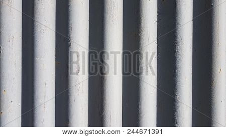 Abstract Background Of Striped Light Gray Stripes And Dark Gray Stripes.