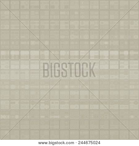 Grey Beige Abstract Crystal Cubes Cubic Squared Tiles Design Background