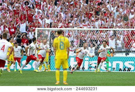 Marseille, France - June 21, 2016: Jakub Blaszczykowski Of Poland (#16) Reacts After Scored A Goal D