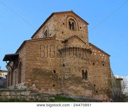 Iglesia de Byzantinume tradicional en Makedonia Kastoria, Grecia
