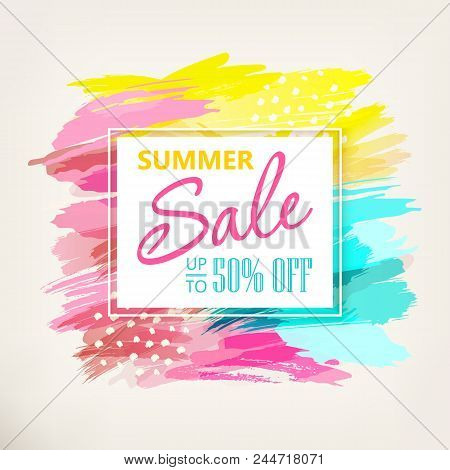 Summer Sale Banner Design. Social Media Sale. Vector Banners, Posters, Flyers, Email, Newsletter, Ad