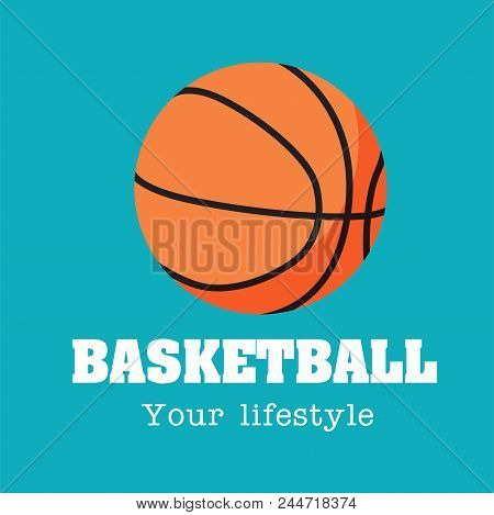 Basketball Your Lifestyle Basketball Background Vector Image