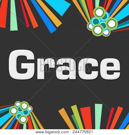 Grace Text Written Over Dark Colorful Background.
