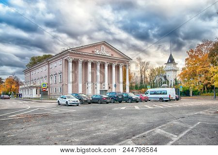 Saint - Petersburg, Russia - October 20, 2017: The Kamennoostrovsky Theater. Was Built In 1827. The