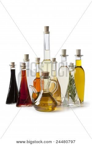 Bottles With Oil And Vinegar