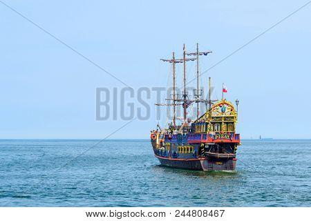 SOPOT - MAY 26: Touristic ship