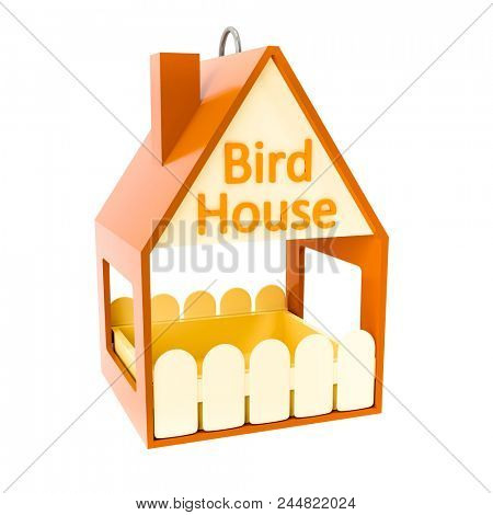 An image of a typical bird house
