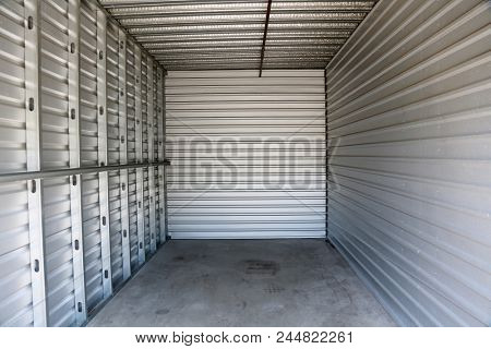 Storage Unit. Storage Locker. Empty Storage unit.