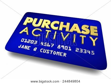 Purchase Activity Credit Card Buying Order History 3d Render Illustration
