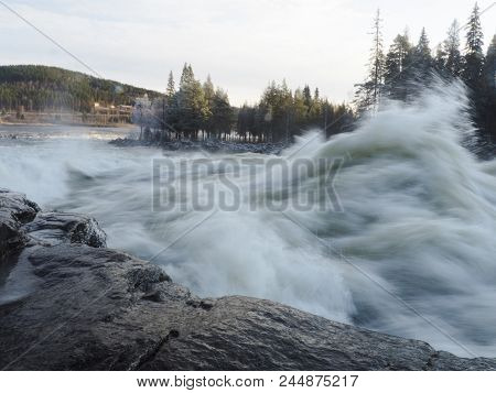 Storforsen, Power Ny Nature, Biggest Waterfall In Sweden