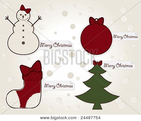 Christmas elements-tags