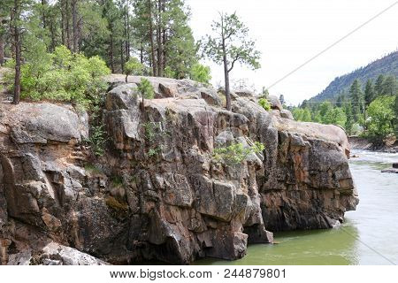 Summer Over Animas River In Durango, Co