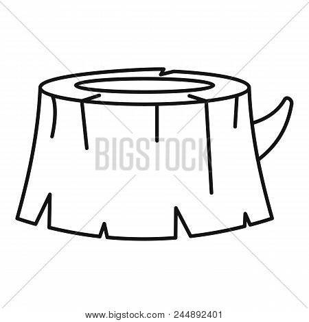 Old Tree Stump Icon. Outline Illustration Of Old Tree Stump Vector Icon For Web Design Isolated On W