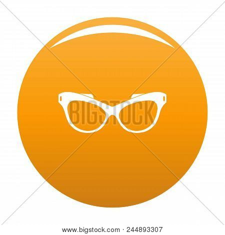 Man Spectacles Icon. Simple Illustration Of Man Spectacles Vector Icon For Any Design Orange