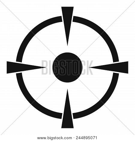 Reticle Target Icon. Simple Illustration Of Reticle Target Vector Icon For Web Design Isolated On Wh