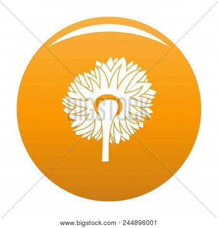 Turning Sunflower Icon. Simple Illustration Of Turning Sunflower Vector Icon For Any Design Orange
