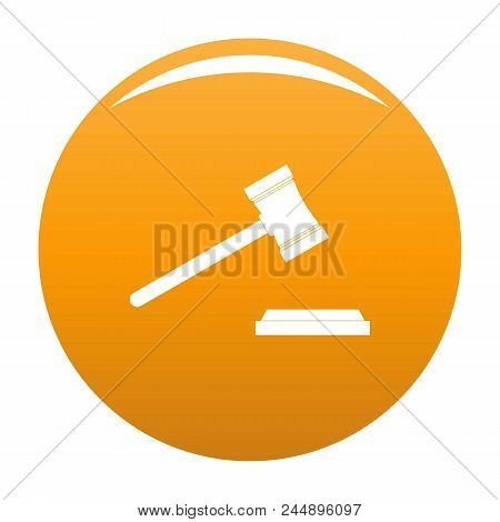 Legal Gavel Icon. Simple Illustration Of Legal Gavel Vector Icon For Any Design Orange