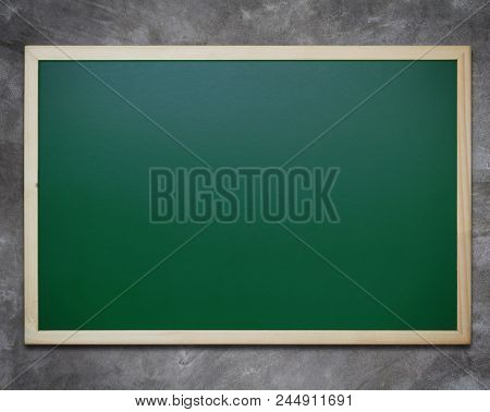 Communication And Announcement Concept, Blackboard On Concrete Background