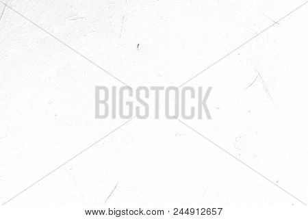 Abstract Art White Textured Background. Distressed Light Backdrop. Scratched Dust Design. Copyspace