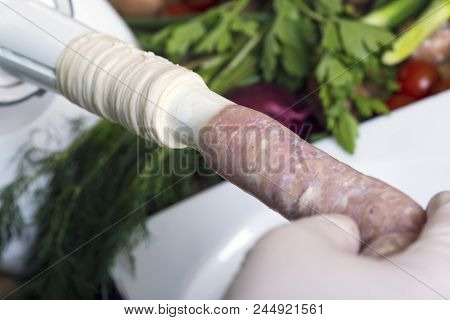 Homemade Making Sausage
