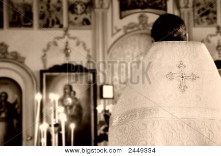 Priest In Orthodox Church