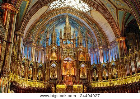 The Altar of Notre Dame Montreal