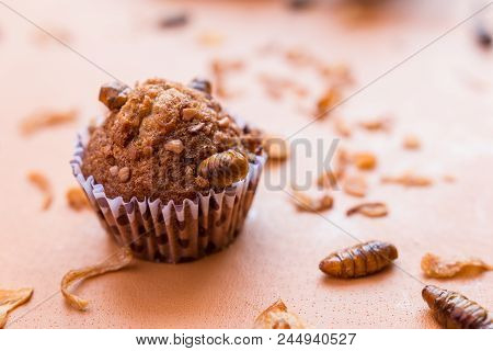 Banana Cupcakes With Insect Foods