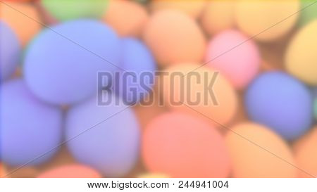 Blurred Easter Eggs - Abstract Blurred Multi Fresh Colorful For Easter Eggs Holiday. Background Conc