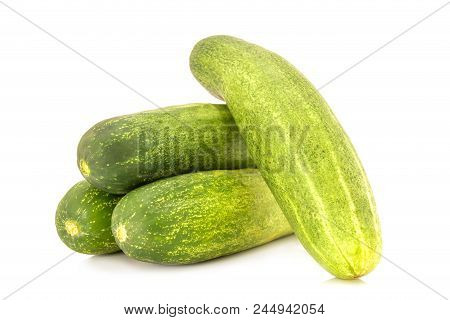 Cucumber Isolated - Fresh Cucumbers Isolated On A White Background.