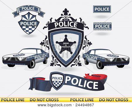 Elementos da polícia - vector
