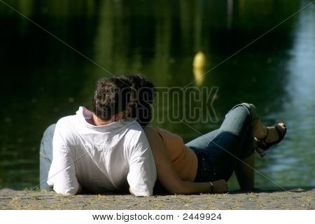 Waterside Couple