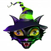 A bewitching little kitty cat for Halloween. poster
