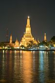 Wat Arun, Bangkok Thailand, Wat Arun is one of Bangkok's best know landmark. view from Chao Phraya river . poster