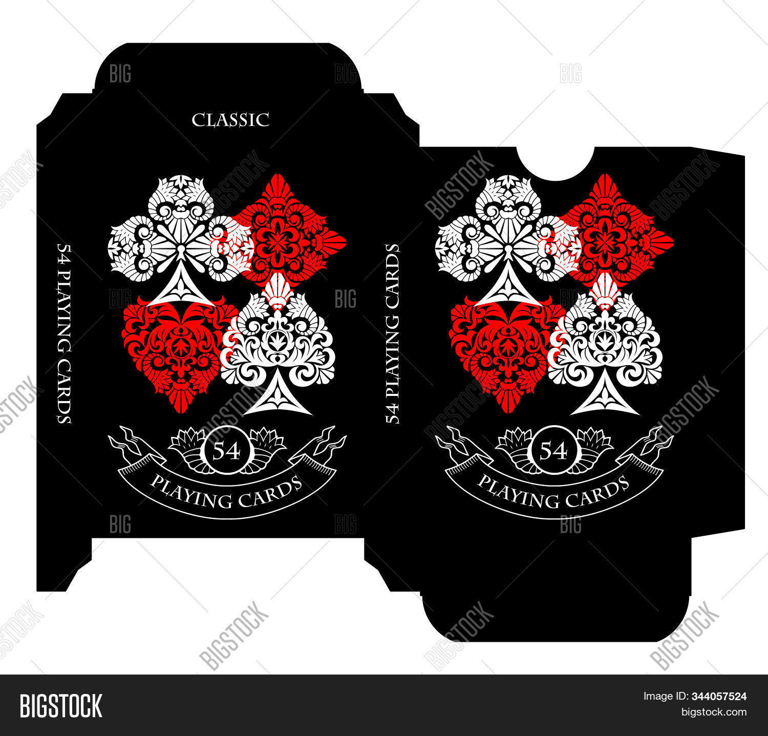 Playing Card Box Template from static2.bigstockphoto.com
