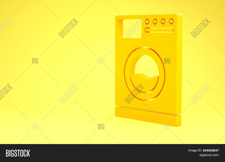 Yellow Washer Icon Image Photo Free