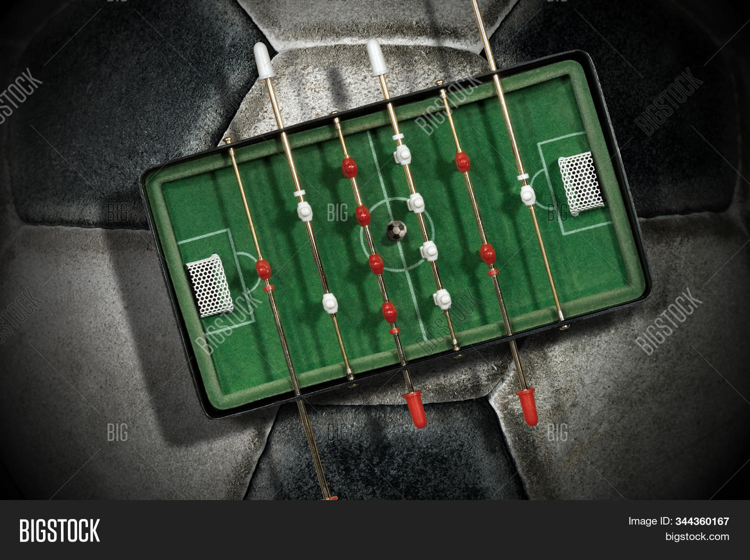 Foosball Top View Image Photo Free Trial Bigstock