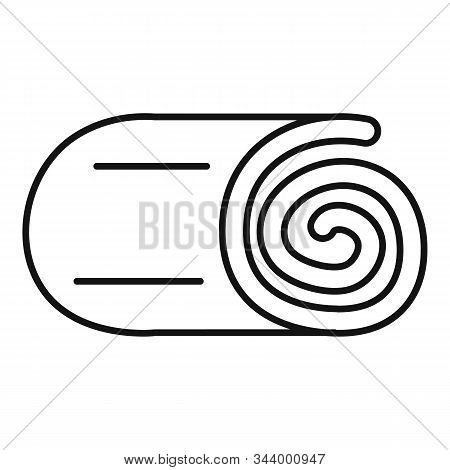 Roll Blanket Icon. Outline Roll Blanket Vector Icon For Web Design Isolated On White Background