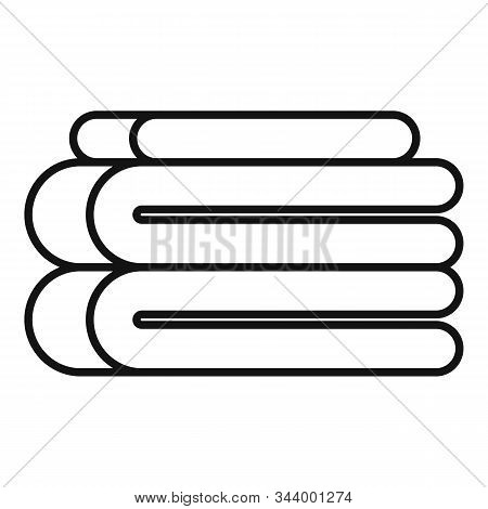 Stack Soft Blanket Icon. Outline Stack Soft Blanket Vector Icon For Web Design Isolated On White Bac