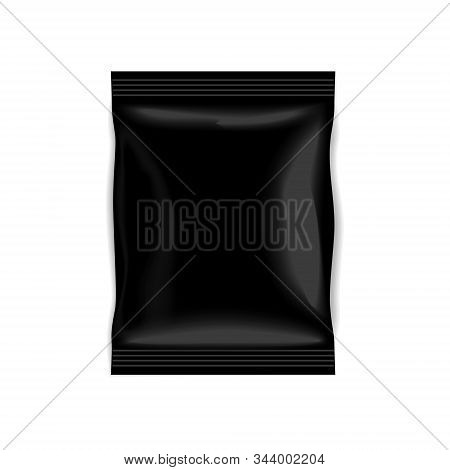 Black Foil Doy Pillow Pack Isolated On A White Background