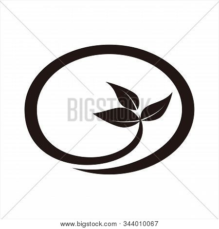 Leaf Icon, Isolated On A White Background. Trendy And Modern Icons. Simple Icon. Symbol For Graphic.