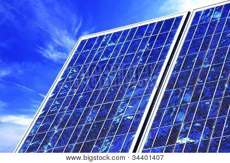 Solarpanel closeup