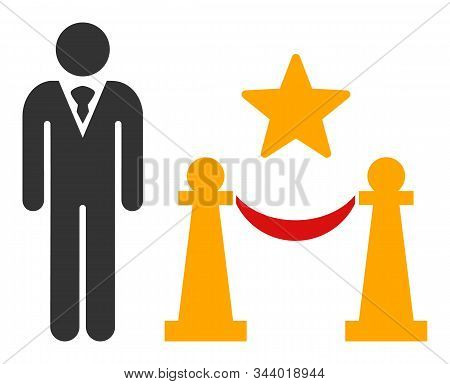 Prestige Entarnce Vector Icon. Flat Prestige Entarnce Pictogram Is Isolated On A White Background.