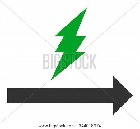 Proceed Vector Icon. Flat Proceed Symbol Is Isolated On A White Background.