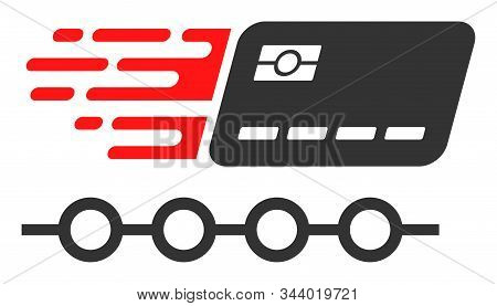 Rush Grace Credit Periods Vector Icon. Flat Rush Grace Credit Periods Pictogram Is Isolated On A Whi