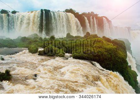 Devil's Throat, Garganta Del Diablo, Is The Biggest Of The Iguazu Waterfalls. Located On The Iguazu