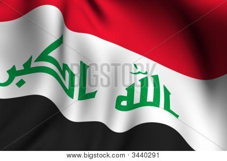 Rendered Iraqi Flag