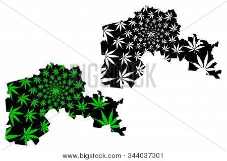 North Kazakhstan Region (republic Of Kazakhstan, Regions Of Kazakhstan) Map Is Designed Cannabis Lea