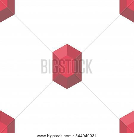 Mineral. Colored Vector Patterns In A Flat Style. Geology, Jewel Crafting, Gemology. Vector Illustra