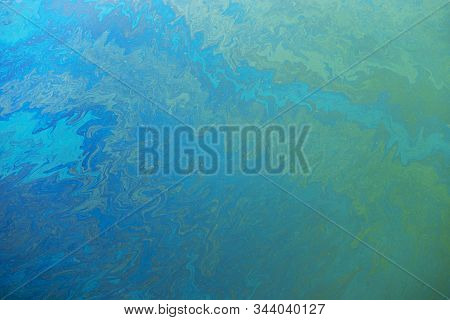 Slick Industry Oil Fuel Spilling Water Pollution